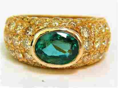 6.30CT ETERNITY NATURAL EMERALD FANCY YELLOW DIAMONDS