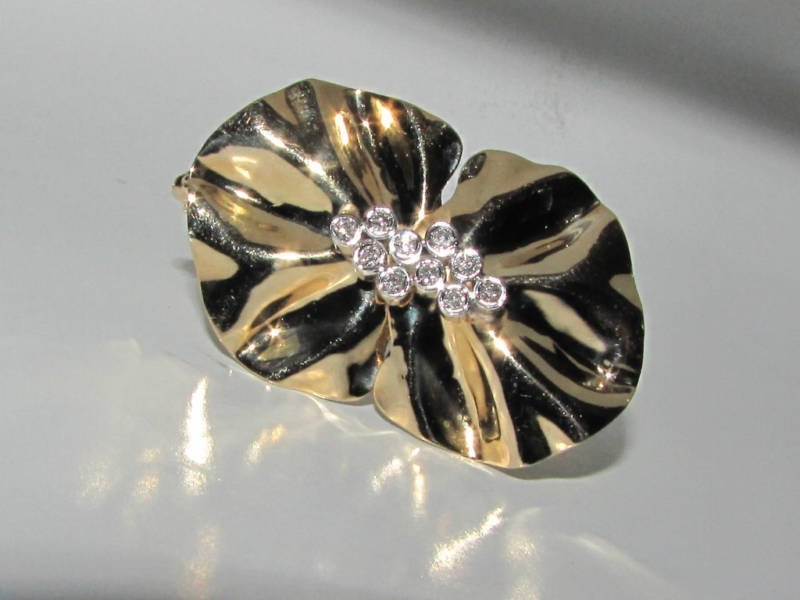 .50ct. DIAMONDS BROOCH PIN 14KT