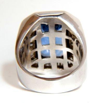 GIA 17.33CT NATURAL NO HEAT SAPPHIRE DIAMONDS MENS RING - 9