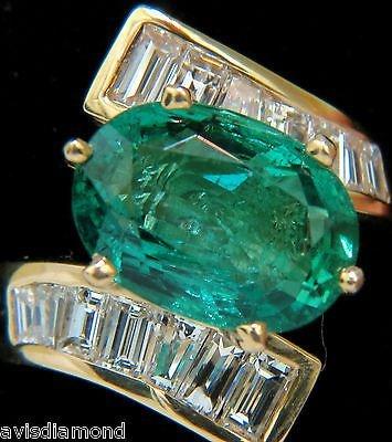 7.26CT NATURAL VIVID AAA EMERALD DIAMOND CROSSOVER