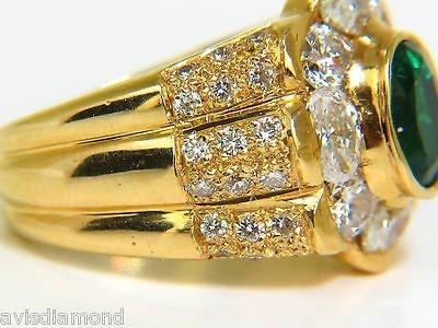 18KT 4.00CT NATURAL EMERALD DIAMOND RING CUSTOM DETAIL - 4