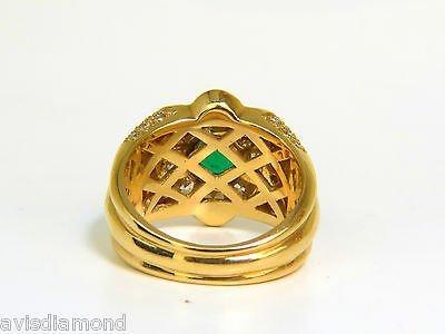 18KT 4.00CT NATURAL EMERALD DIAMOND RING CUSTOM DETAIL - 5
