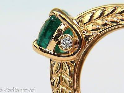 3.58CT. NATURAL ZAMBIA AAA GREEN EMERALD DIAMOND RING - 2