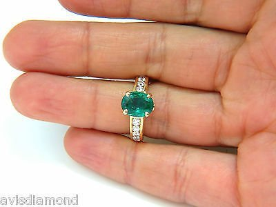 3.58CT. NATURAL ZAMBIA AAA GREEN EMERALD DIAMOND RING - 4