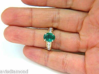3.58CT. NATURAL ZAMBIA AAA GREEN EMERALD DIAMOND RING - 4