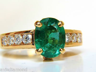 3.58CT. NATURAL ZAMBIA AAA GREEN EMERALD DIAMOND RING - 5