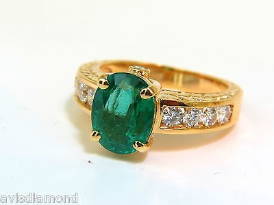 3.58CT. NATURAL ZAMBIA AAA GREEN EMERALD DIAMOND RING - 6