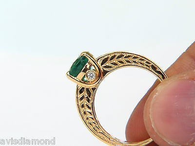3.58CT. NATURAL ZAMBIA AAA GREEN EMERALD DIAMOND RING - 7