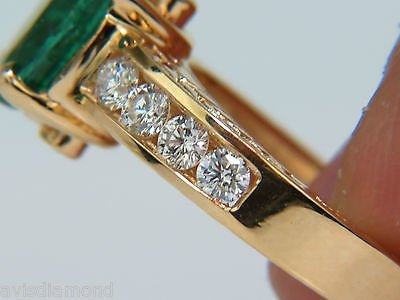 3.58CT. NATURAL ZAMBIA AAA GREEN EMERALD DIAMOND RING - 8