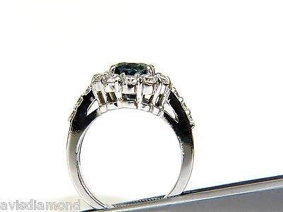 5.53CT NATURAL NO HEAT SAPPHIRE DIAMOND HALO RING 14KT - 6