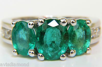 5.14ct NATURAL EMERALD DIAMOND RING 14KT G/VS A+