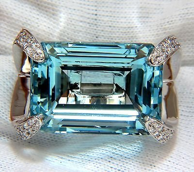 50.37CT HUGE EMERALD CUT NATURAL AQUAMARINE DIAMONDS
