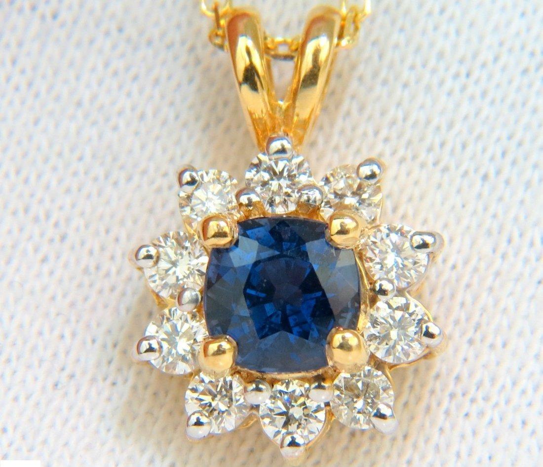 14KT 2.77CT NATURAL FINE GEM BLUE SAPPHIRE DIAMONDS