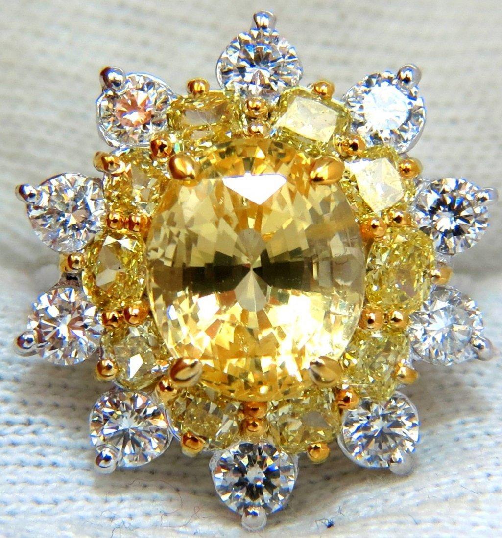GIA 11.64CT NATURAL VIVID YELLOW SAPPHIRE DIAMONDS