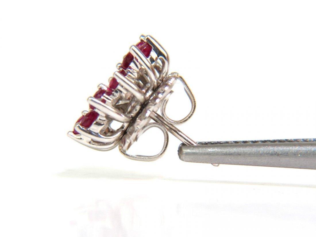 4.06CT DIAMOND STUDS & JACKETS EMERALD RUBY SAPPHIRE - 6
