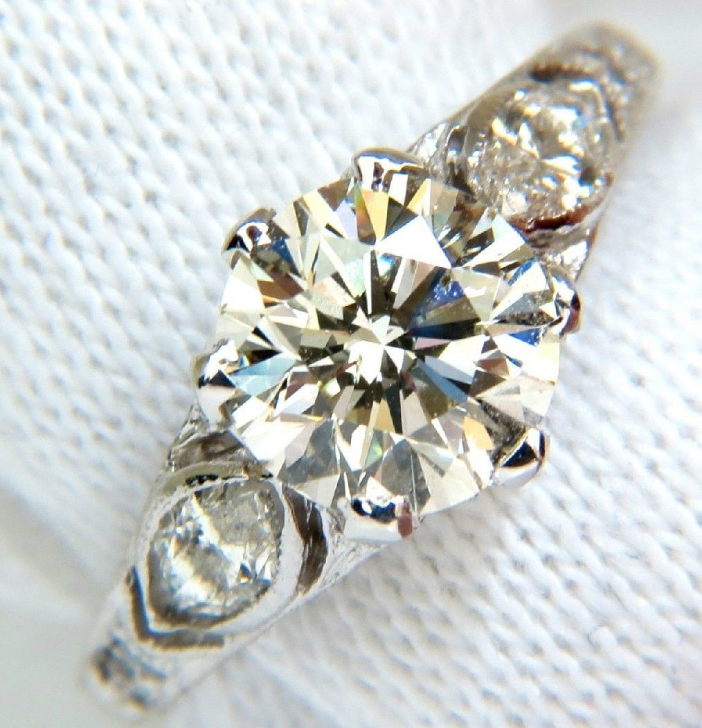 2.03CT VICTORIAN REVIVAL NATURAL DIAMOND RING 14KT