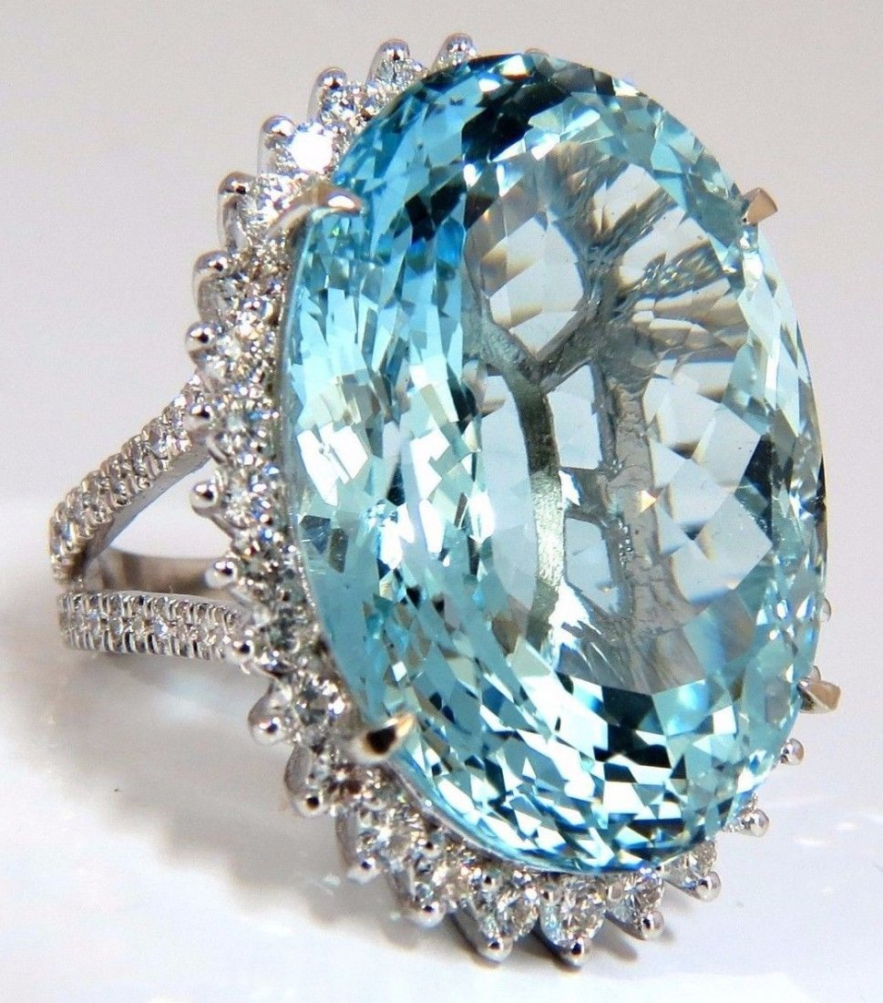 "GIA Certified 47.54ct Natural ""Blue"" Aquamarine diamond"