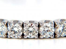 8.67ct Natural Round Brilliant Diamonds Bangle Bracelet