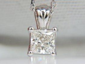 Gia 1.01ct Brilliant Princess Cut Diamond Solitaire