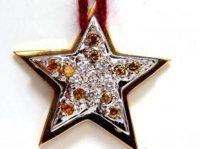 .50ct White & Fancy Vivid Yellow Diamond Pendant 14kt