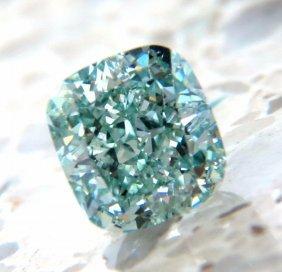 Gia Certified 1.53ct Fancy Intense Blue Green Diamond