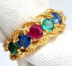 2.22ct Natural Emerald Sapphire Ruby Tsavorite Fancy