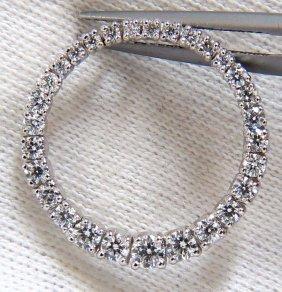 1.07ct. Diamonds Graduated Circle Diamond Pendant 14kt
