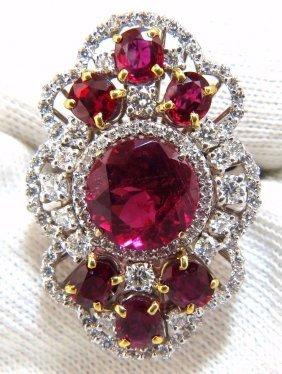 Gia Certified 8.03ct Natural Tourmaline Rubellite Ruby