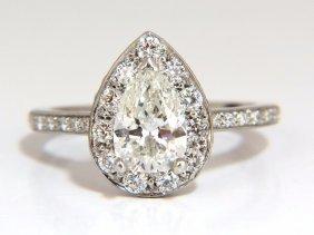 Gia Certified 1.15ct Pear Shape Diamond Ring 1.00ct