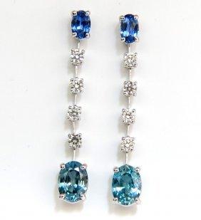 5.46ct Natural Indigo Dangling Blue Zircon Sapphire
