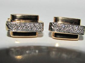 1.00ct. Diamond Gents Bar/stick Cufflinks 14kt