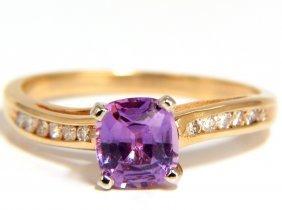 Gia 1.33ct Natural No Heat Pink Sapphire Diamonds Ring