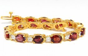 14.81ct Natural No Heat Red Spinel Diamonds Tennis