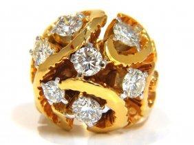 3.00ct Natural (7) Diamonds Raised Dome Vine Twist