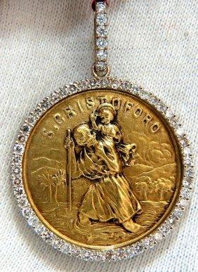 Saint Christoforo Religious Talisman 18kt 2.00ct