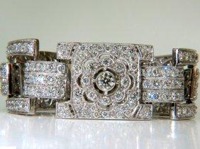 18kt 20.00ct Diamonds Art Deco Classic Link Cuff