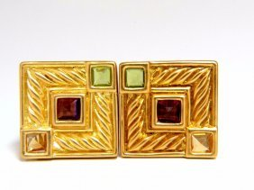Designer Ivan & Co Natural Citrine Tourmaline Peridot