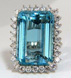 "Gia Certified 33.85ct Natural ""blue"" Aquamarine"