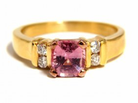 Gia Certified 1.36ct Natural No Heat Padparadscha