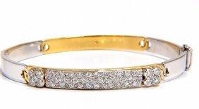 Designer Bangle Bracelet 18kt 1.50ct. Natural Diamonds