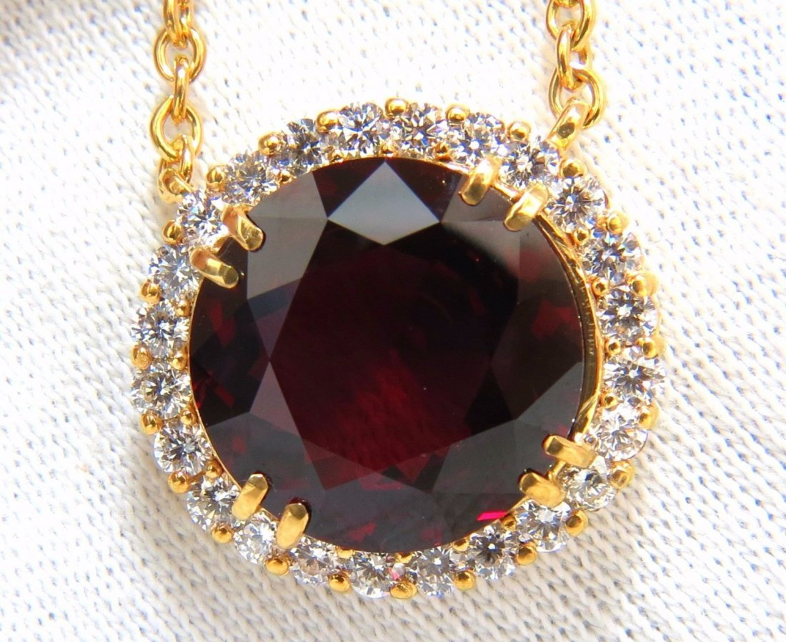 GIA Certified 16.10ct Natural Rhodolite & 1.40ct