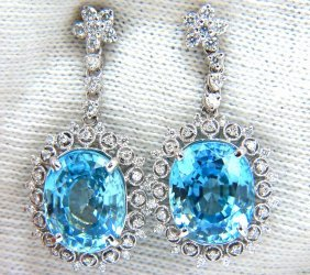 12.46ct Natural Bright Vivid Indigo Blue Zircon Diamond