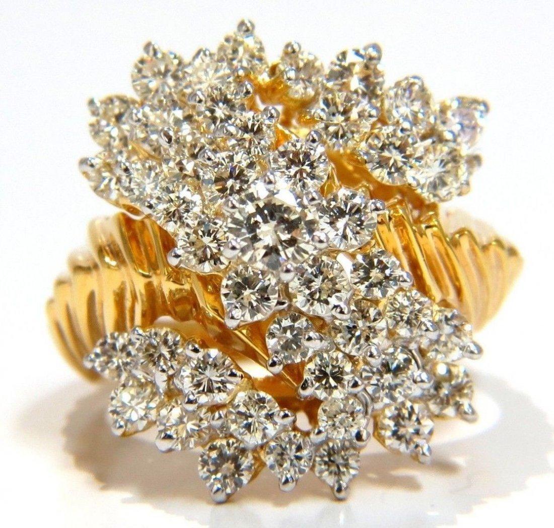 2.50ct NATURAL ROUND BRILLIANT DIAMONDS RAISED COCKTAIL