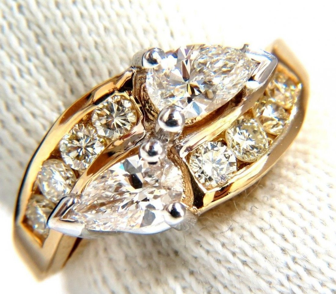 1.70CT NATURAL DIAMONDS MARQUISE CROSSOVER CHANNEL