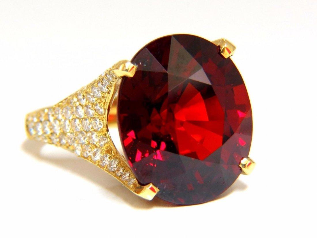 26.31ct GIA Natural Red Spessartite Garnet Diamonds