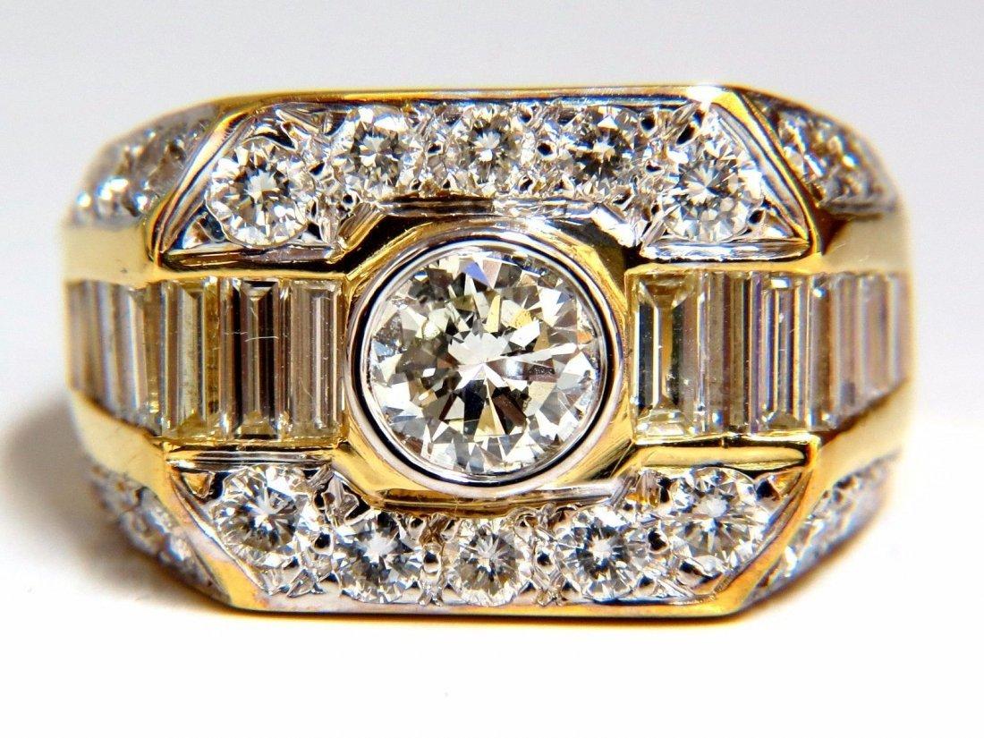2.65ct diamond mens ring 18kt classic sandwich deco