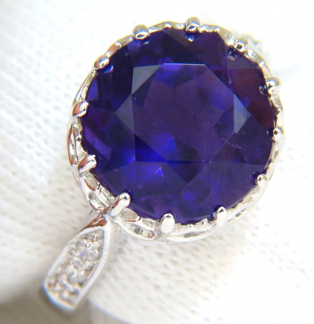 5.20CT NATURAL BRILLIANT ROUND DEEP PURPLE AMETHYST