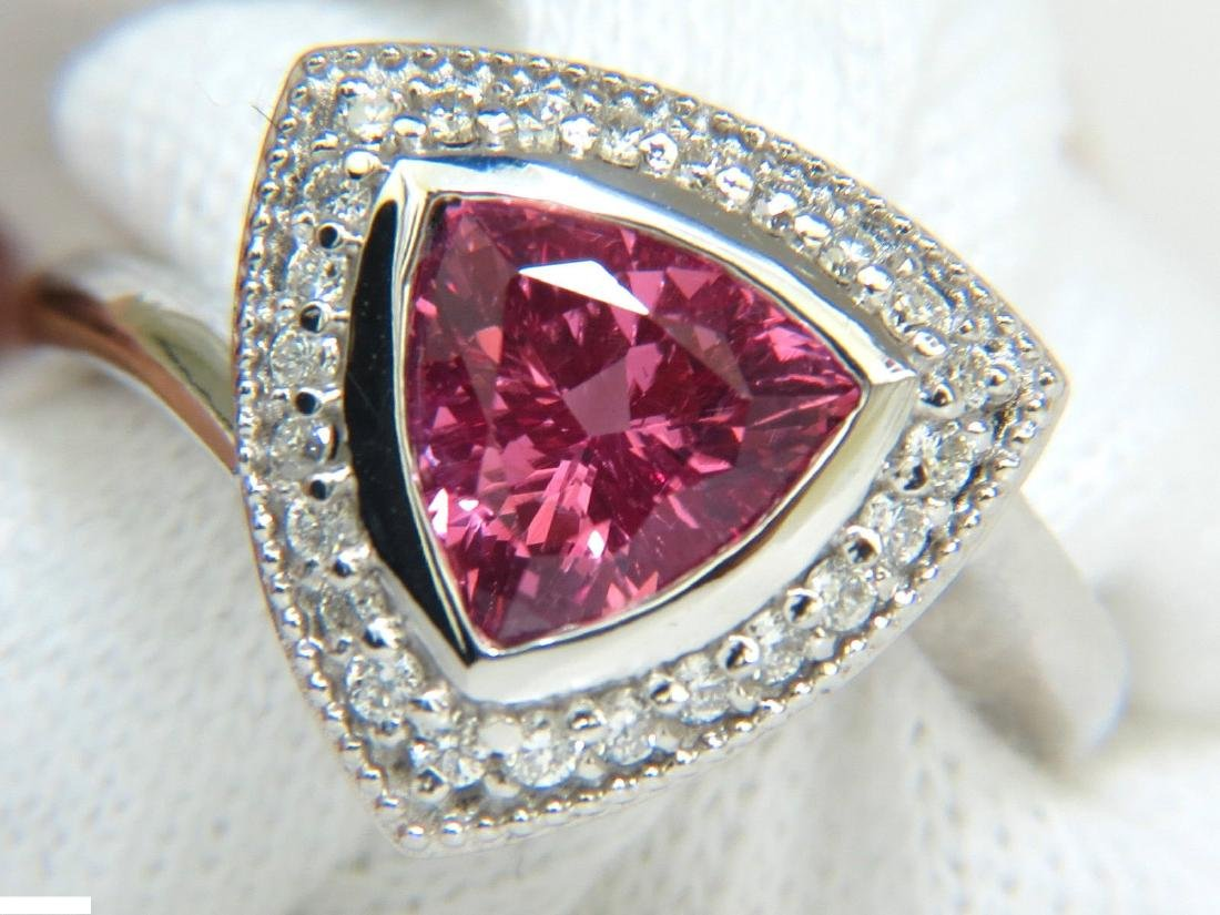 2.15CT NATURAL NO HEAT PINK SPINEL DIAMOND HALO RING