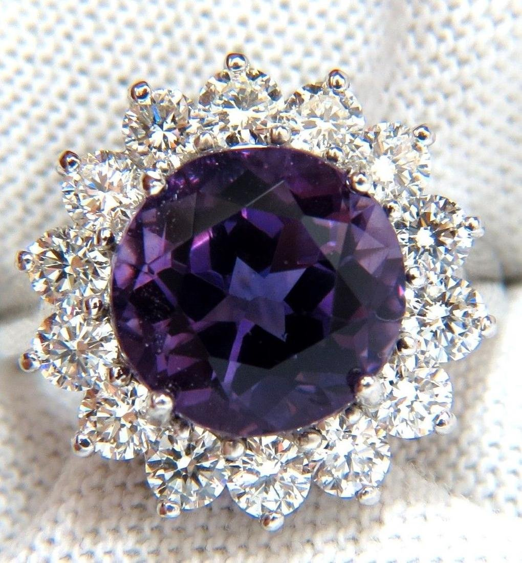 6.43CT NATURAL BRILLIANT ROUND BRIGHT PURPLE AMETHYST