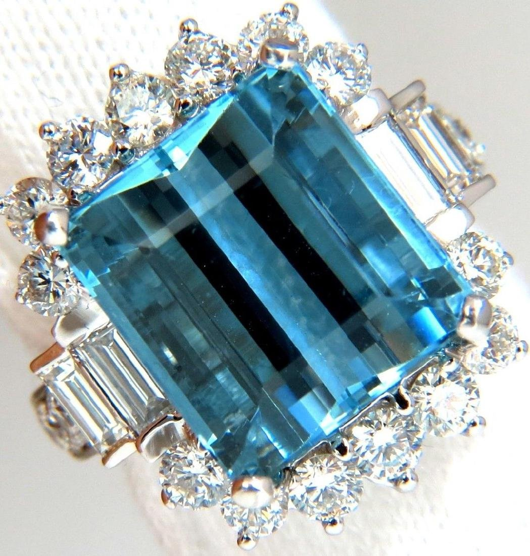 GIA 15.90CT NATURAL OCTAGONAL CUT AQUAMARINE DIAMONDS